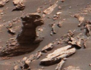 Statue of a monster in Mars