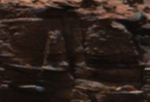 Monster or animal statues on Mars