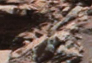 Mars  metal object with a metal wheel