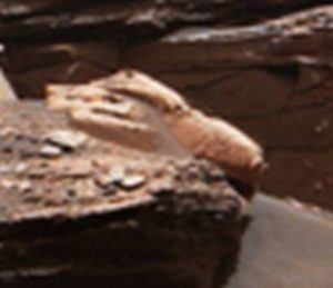 Missile-like object on Mars