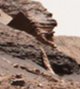 Martian structure with pipe