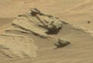 Dust covered object on Mars