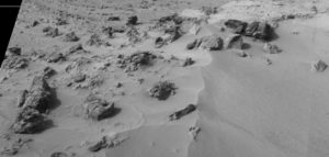 Martian objects and human-like creatures. Rocknest SOL 100