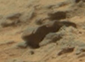 A military tank without camouflage on Mars