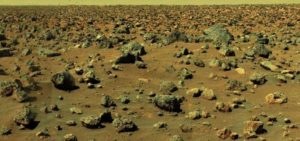 Stone animals on Mars by Viking Lander 2 in 1976